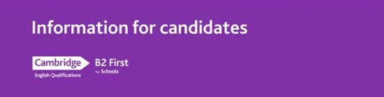 B2 first for schools information for candidates Booklet